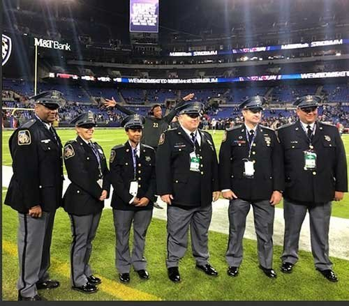 FOP Lodge #4 Members Recognized for their Outstanding Service at Baltimore Ravens Game